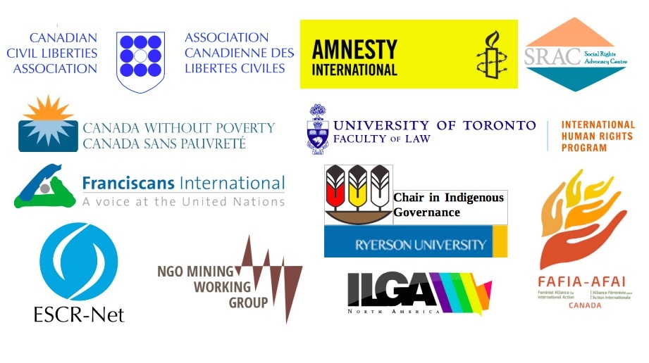 Logos of the organizations signed on to the joint statement